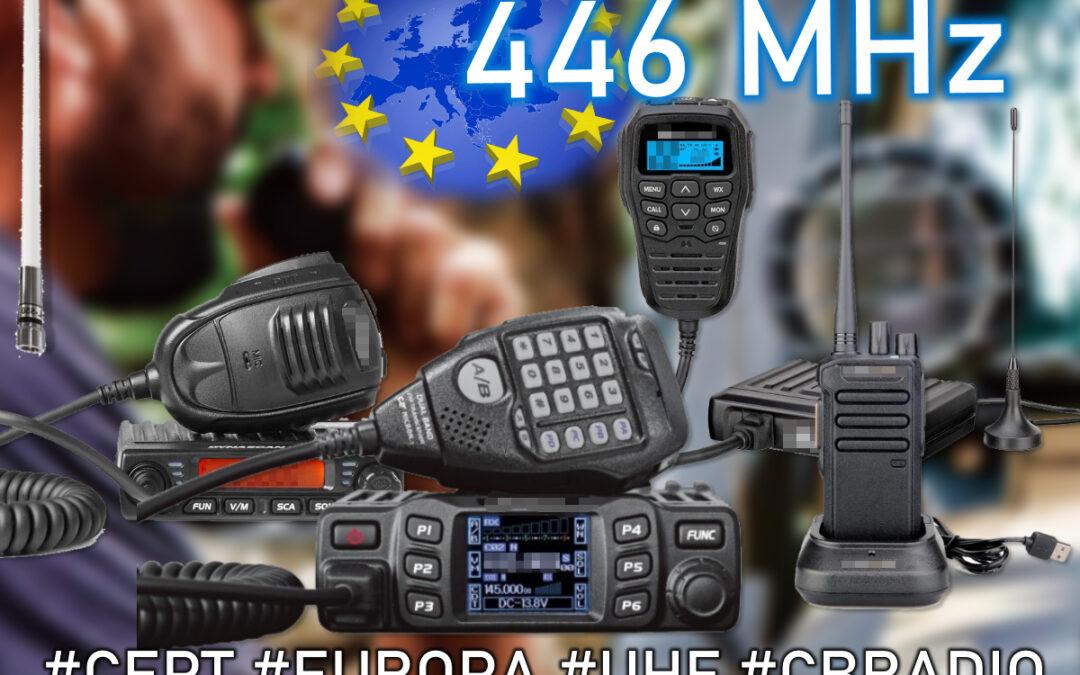 PMR446: Iniciativa para solicitar el uso de antenas exteriores y aumento de potencia
